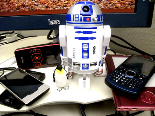 R2D2 hub and assorted gadgets